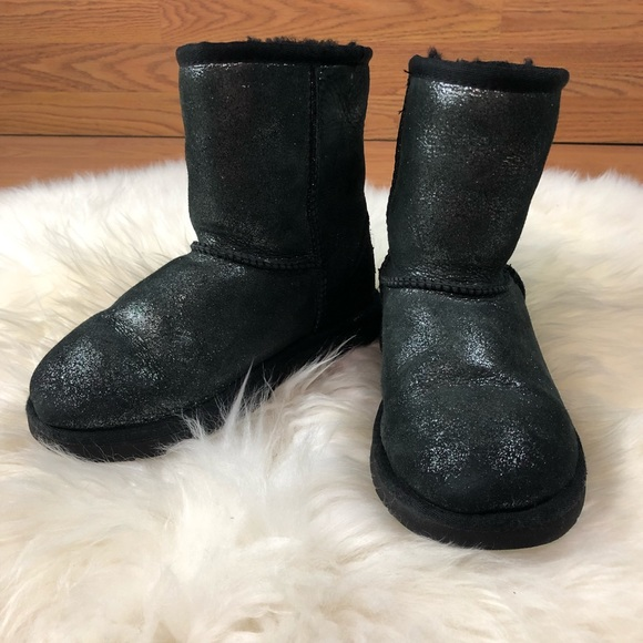 Girls 13 black shimmer Ugg Boots